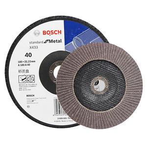 2608601700 博世附件 千叶砂磨轮 实用型千叶片 180mm 40目 煅烧刚玉
