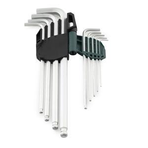 09101A 世达 9件铬钒钢特长球头内六角扳手组套 1盒6.0套 1箱48.0套