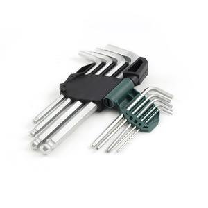 09105A 世达 9件铬钒钢加长球头内六角扳手组套 1盒6.0套 1箱48.0套