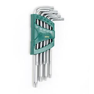 09702 世达 9件加长中孔花形扳手组套 1箱48.0套 1盒6.0套