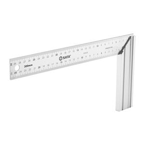 91412 世达 铝柄钢角尺 300MM 1盒10.0把 1箱40.0把