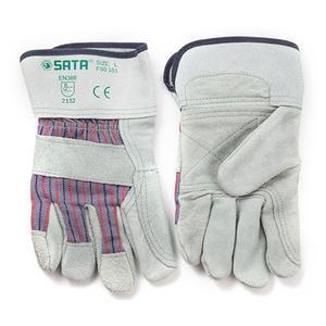 FS0101 世达PPE 经济型半皮手套L 1盒12.0双 1箱36.0双
