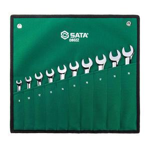 08022 世达 10件全抛光两用扳手组套 1箱12.0套 1盒12.0套